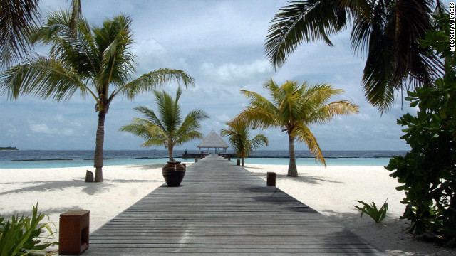 A view of Coco Palm spa resort in the Maldives, a popular luxury resort destination in political turmoil.