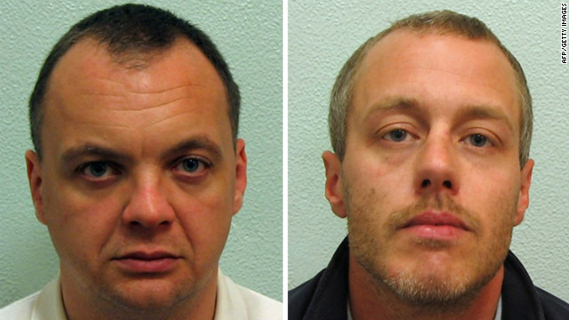 A composite image of undated handout pictures shows Gary Dobson (L) and David Norris (R)