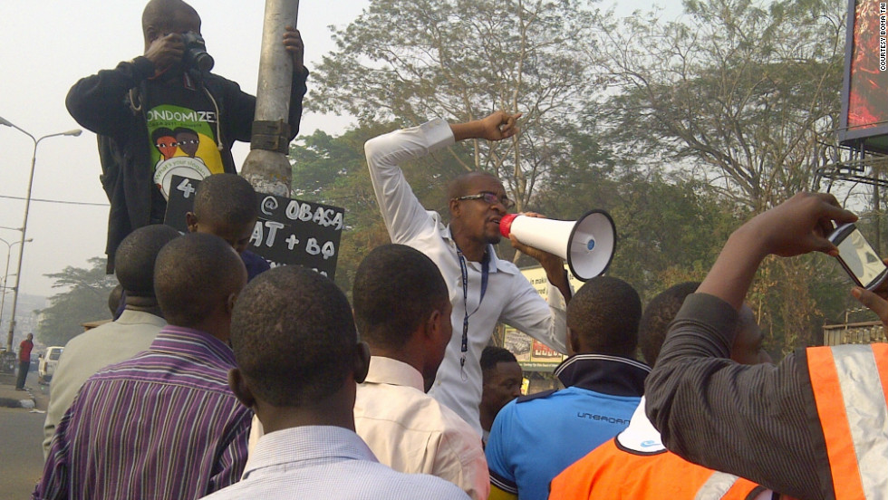 "iReporter Boma Taiu took this photo of protests in Ibadan, Nigeria. ""The poor are suffering,"" he said."