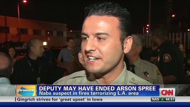 Part-time cop nabbed arson suspect