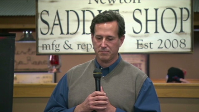 Santorum breaks down in Iowa