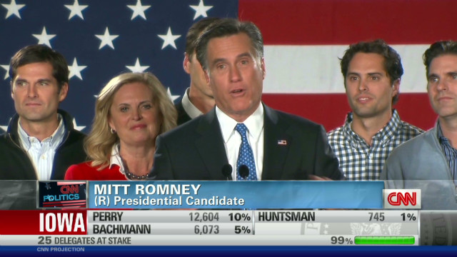 Romney weighs in on his Iowa win