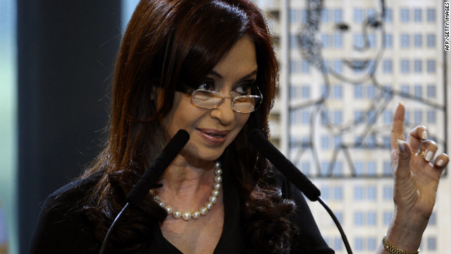 Argentine President Cristina Fernandez de Kirchner underwent surgery this week to remove her thyroid.