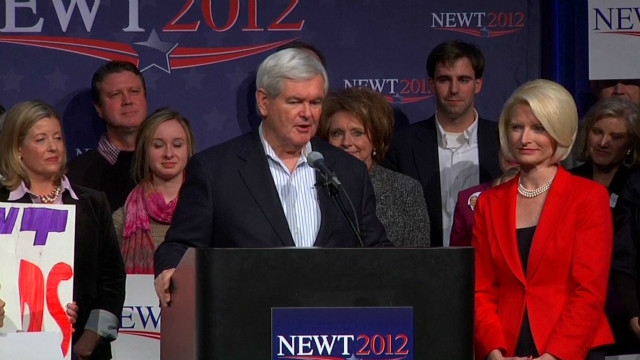 Newt Gingrich vows to carry on