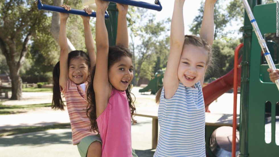 Germs like to play Ring Around the Rosie on the playground. Any microorganisms on kids' hands get spread to the monkey bars, the slide, the teeter totter, etc. where other children can pick them up.