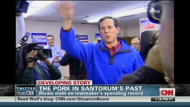 Rivals look at Santorum's past spending