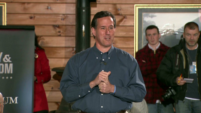 Santorum's not in Iowa anymore
