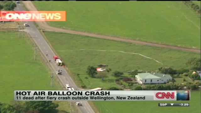 Hot air balloon crash in New Zealand