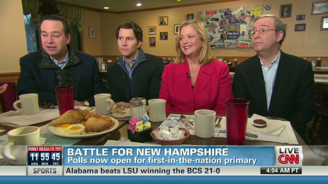Race for second place in New Hampshire