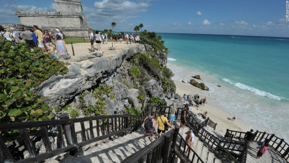 Today it is one of Mexico's most picturesque Maya sites, overlooking the blue-green waters of the Caribbean sea.