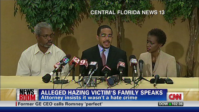 Alleged hazing victim's family speaks