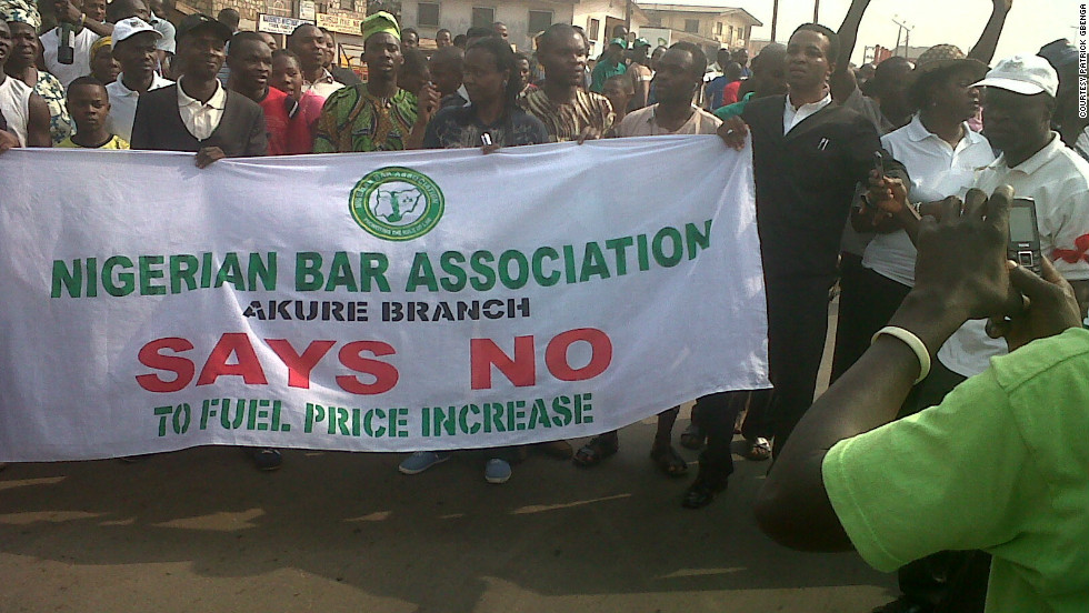 A group representing the Nigerian Bar Association expressing their discontent