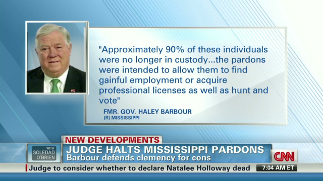 Judge halts Mississippi pardons