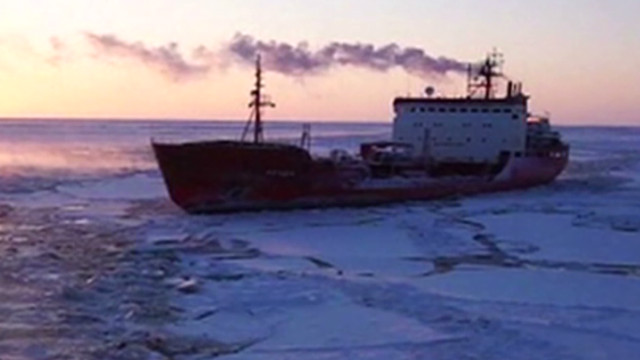 Tanker nears Alaska town buried in snow