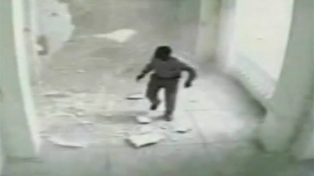 2010: Security cameras captured video from inside Haiti's National Palace as the quake struck.