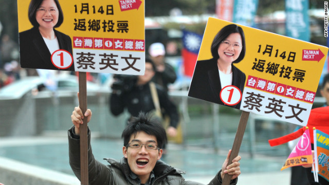 China and U.S. watching Taiwan elections