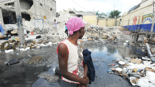 The rubble from the 2010 earthquake lay in the streets of Port-au-Prince for many months.