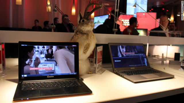 Like most PC makers, Lenovo showed several new Ultrabooks at CES.