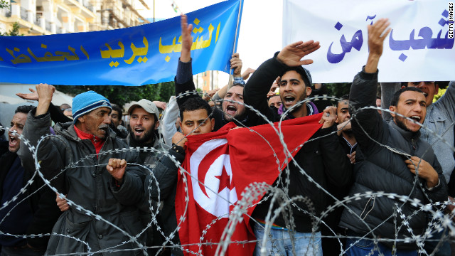 Nationwide demonstrations has forced the former Tunisian president to step down after 23 years in power.