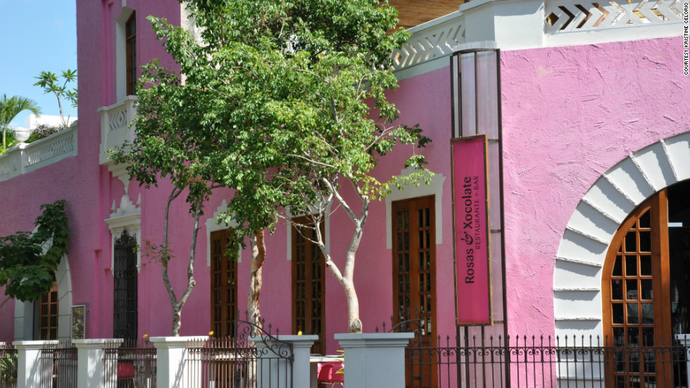 """The colonial street of Paseo de Montejo in Merida is full of magnificent and colorful buildings of a time gone by,"" Kristine Celorio said of this photo. ""But there is none quite as colorful as this hot pink restaurant which pops against the bright blue sky."""