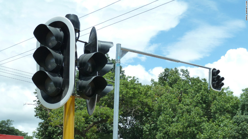 Livingstone's first ever traffic light was erected in 2011, and just like everywhere else in the world, people have already figured out sneaky ways to get around it.