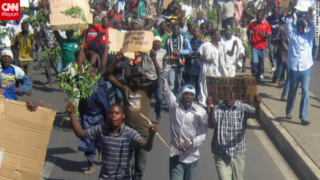 Nigerians have taken to the streets to demand the return of fuel subsidies in Africa's most populous nation