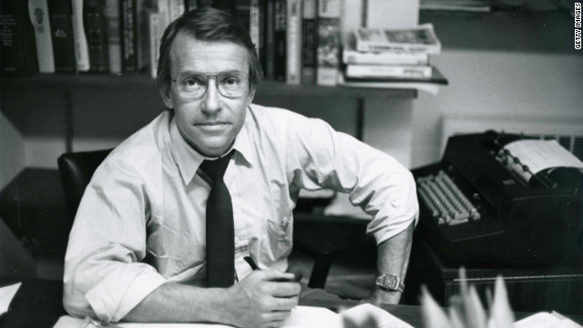 Richard Threlkeld, shown in 1982, worked for CBS and ABC.