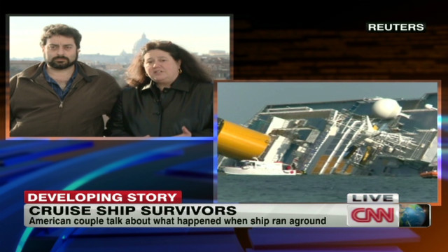 American survivors of ship wreck speak