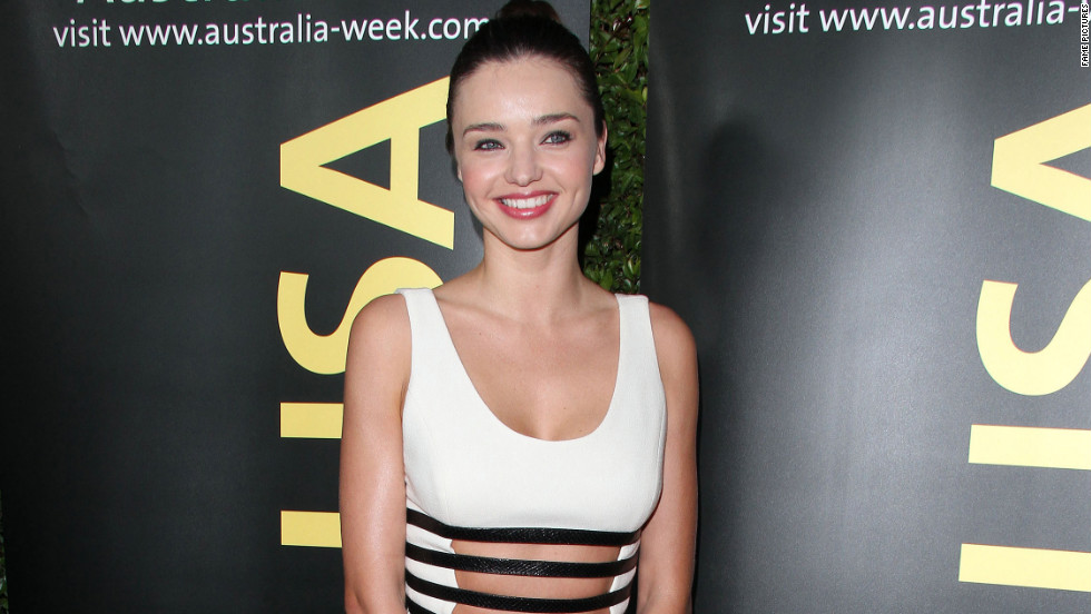 Miranda Kerr attends a gala in Los Angeles.