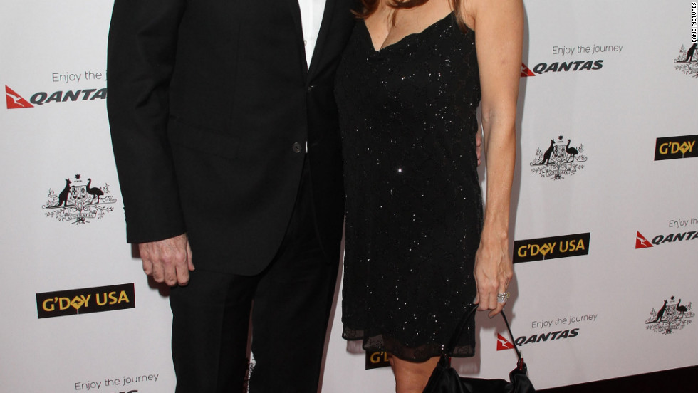 John Travolta and Kelly Preston attend a gala in Los Angeles.