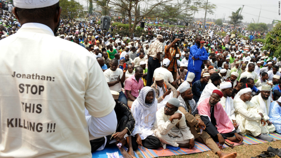 Nigerian Muslims also joined in the protests as the country united against the hike in petrol prices.