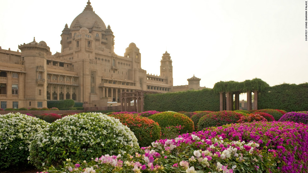 The massive palace was commissioned by the Maharaja of Jodhpur in 1923.