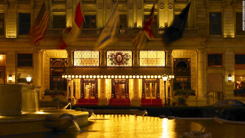 Michael Douglas and Catherine Zeta-Jones wed at the famous Big Apple hotel in 2000.