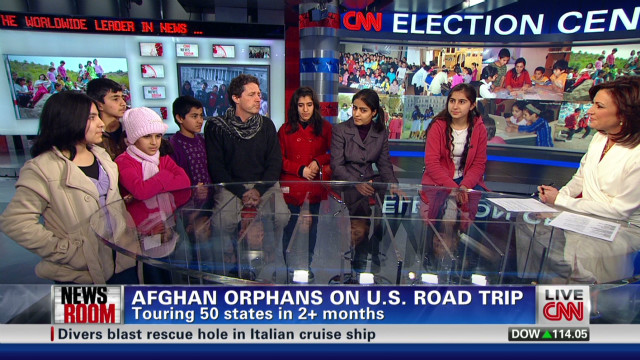 Afghan orphans on U.S. road trip