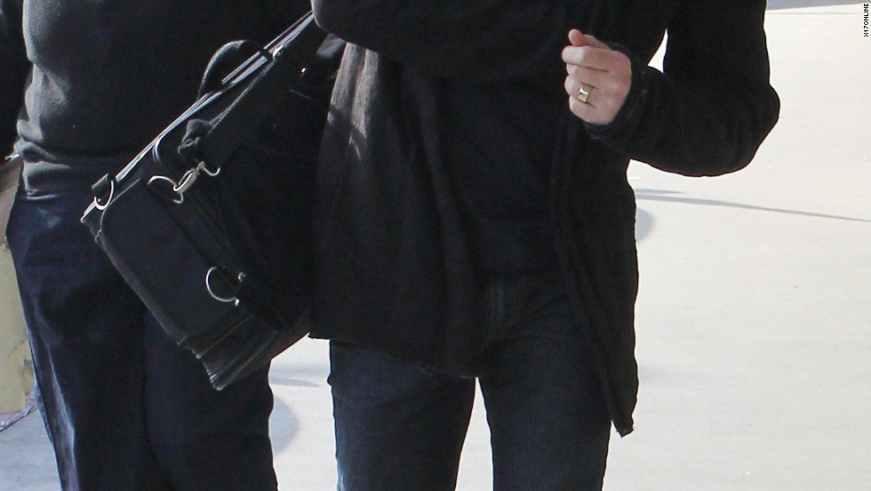 Ewan McGregor catches a flight from the airport in Los Angeles.
