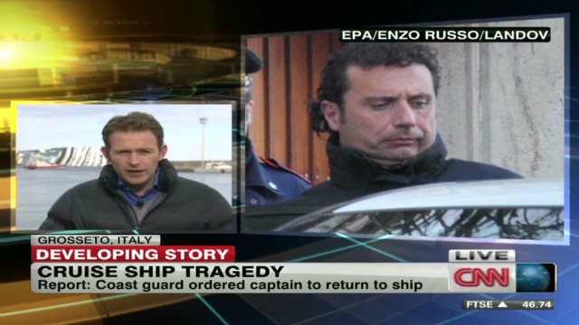 Costa Concordia captain under fire
