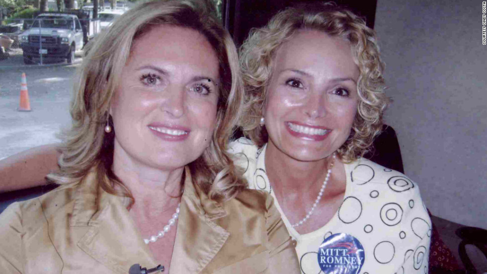 "Costa, right, and Ann Romney crisscrossed South Carolina on a bus tour during the 2008 primary in that state. ""Relationships are a powerful thing,"" Costa says of the time she spent campaigning with the candidate's wife."