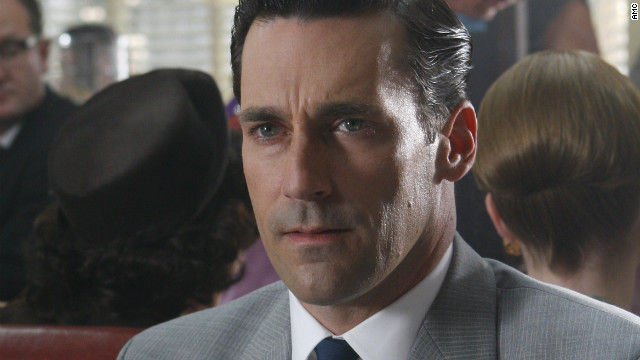 "Jon Hamm plays an ad executive in the AMC TV series, ""Mad Men."""