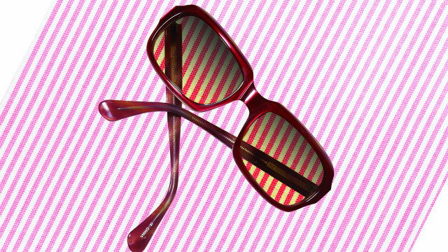 Bend your stretched-out plastic sunglasses back into shape.
