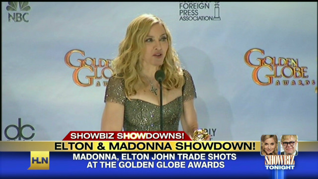 Elton John vs. Madonna at Golden Globes