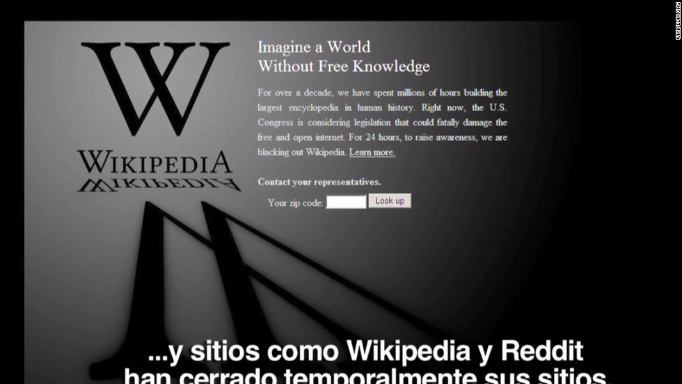 On January 18 several major websites, including Wikipedia, went dark to protest the Stop Online Piracy Act (SOPA), which many felt would unfairly criminalize sites that hosted pirated content. SOPA died in Congress soon afterwards.