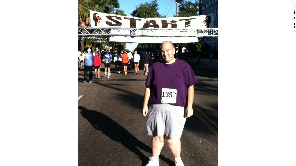 Bryan walked his first 10K last year and plans to run the same race in 2012.