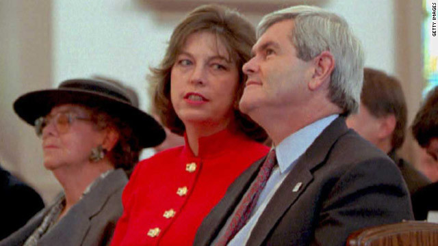 Marianne Gingrich, seen here in 1995 with her former husband Newt Gingrich,  is expected to discuss her relationship with the presidential hopeful in an interview airing on Thursday, days before the South Carolina primary.