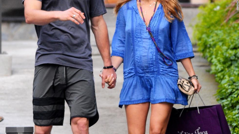 Chris Hemsworth and Elsa Pataky roam around Saint Barthelemy.