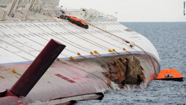 Rescue effort suspended as liner shifts