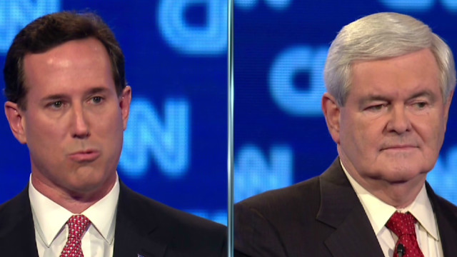Santorum, Gingrich lash out at media