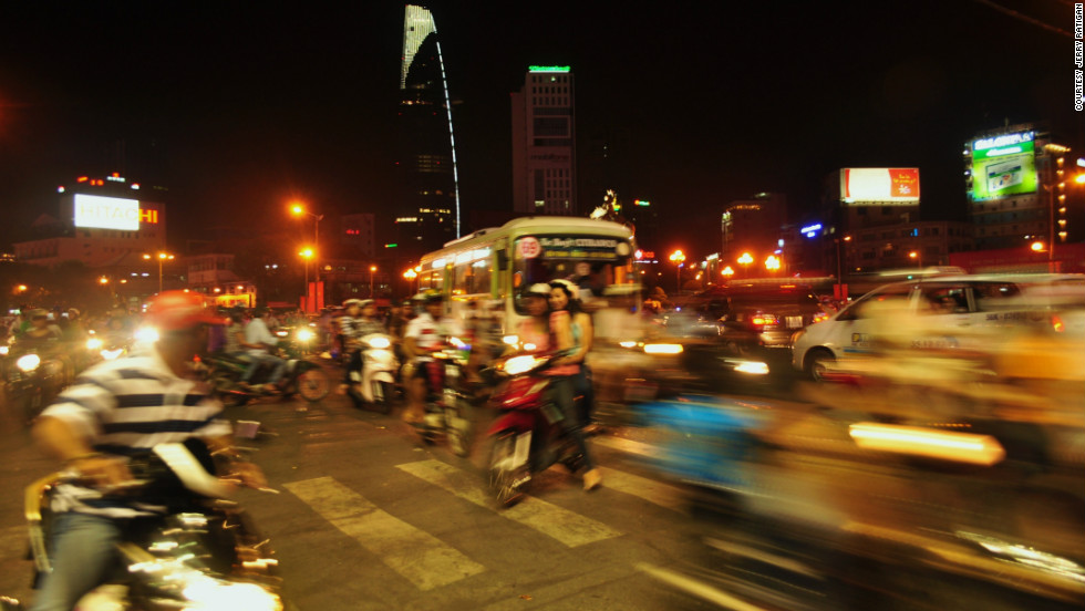 """Jerry Ratigan took this photo of what he called """"organized chaos"""" in Ho Chi Minh City. """"This one was special to me as I was able to capture the liveliness and energy around the city center."""""""