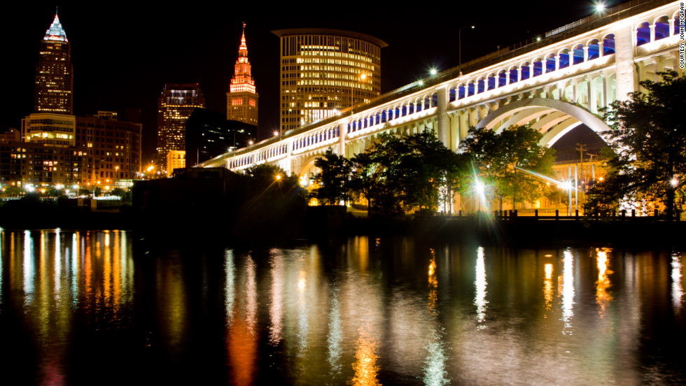 John McGraw snapped this shot while strolling in a park after work near the river in Cleveland.