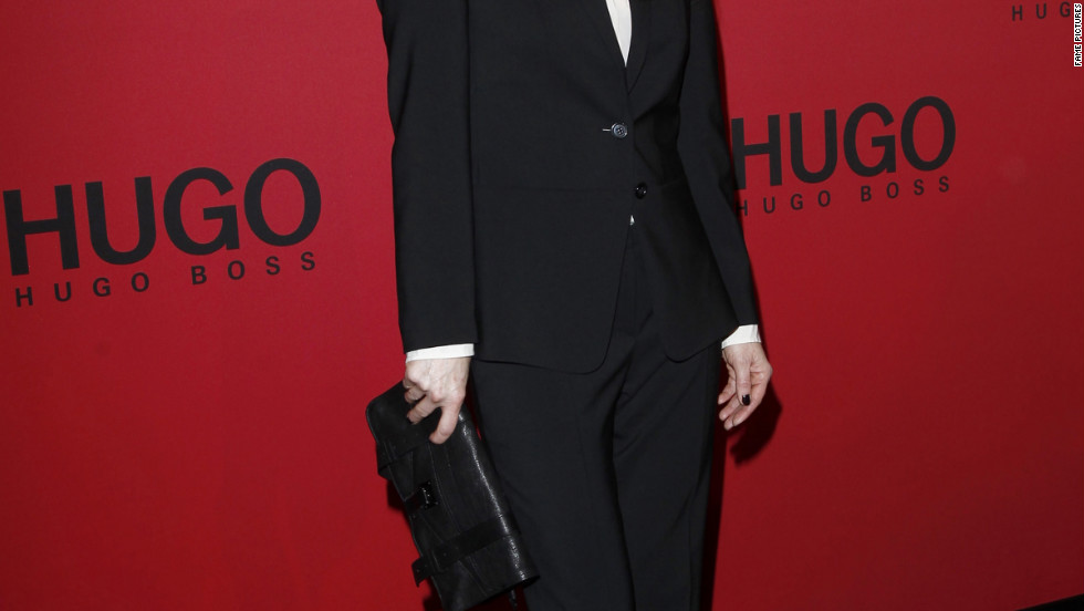 Julianne Moore attends a fashion show in Berlin, Germany.