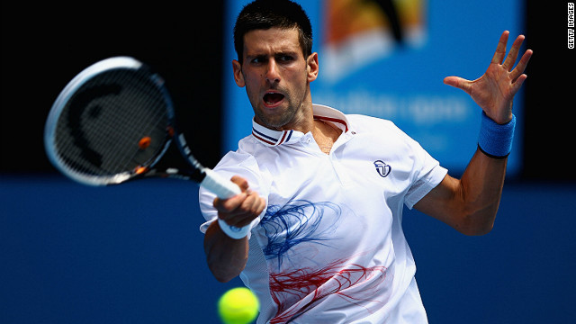 Serbia's Novak Djokovic powered through his third round match beating France's Nicolas Mahut 6-0 6-1 6-1.
